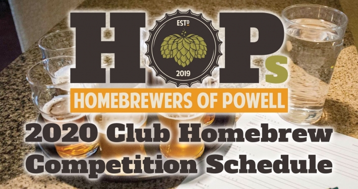 HOPs 2020 Homebrew Competition Schedule